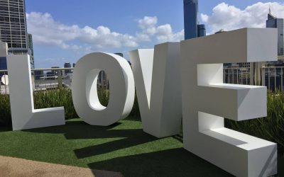 Giant Love Letters 1.8 meters High