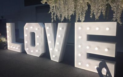 Light Up Love Letters 1.5 meters High